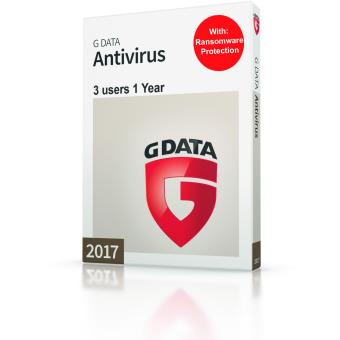 G-Data Anitvirus 3 PC's 1 year