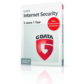 G-Data Internet Security for 3 PCs with Anti-Phishing for 1 Year