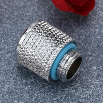 G1/4 External Fitting Thread for 9.5 X 12.7 mm PC Water CoolingSystem Tube(Silver)-Point - intl - 2