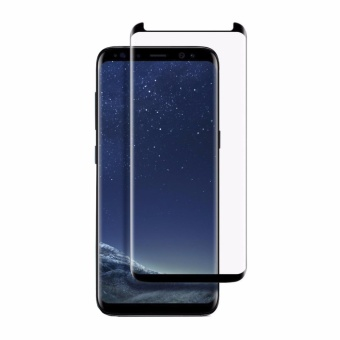 Galaxy S8+ Plus Screen Protector, [Case Friendly] PremiumEdge-to-Edge Full Coverage Tempered Glass Screen Protector forSamsung Galaxy S8+ Plus,Ultra Clear,Bubble Free,Affordable (Black)- intl