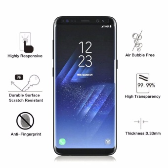 Galaxy S8 Screen Protector, [Case Friendly] Premium Edge-to-Edge Full Coverage Tempered Glass Screen Protector for Samsung Galaxy S8, Ultra Clear,Bubble Free,Affordable (Black) - intl - 2