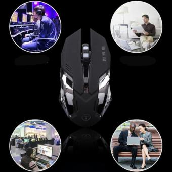 Game mouse silent mouse USB wired mouse gaming office mouse black - intl - 2