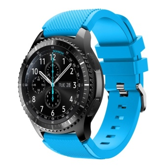 Gear S3 Frontier / Classic Watch Band, 22mm Soft Silicone Man WatchReplacement Bracelet Strap for Samsung Gear S3 - intl