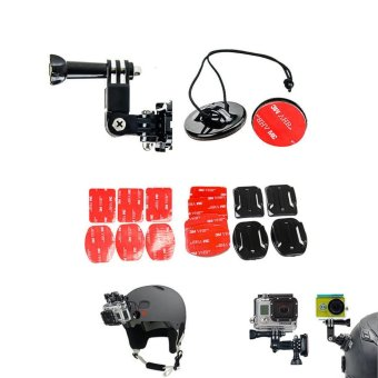 GearBear 3 way Pivot Arm Helmet Side Curved & Flat Mount Kit Set For GoPro Hero 5 4 Session 3+ Sports Action Camera - intl