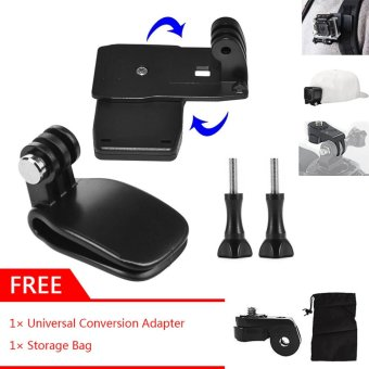GearUshop Cap Hat Quick Release Clip Mount + 360 Degree Rotative Backpack Strap Fast Clamp Rec-mount Kit Set + GIFT Universal Conversion Screw Adapter & Storage Bag For GoPro Hero 5S 5 4S 4 3+ 3 2 1 Sjcam XiaoMi Yi Action Cameras - intl