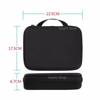 GearUshop Medium Size Carrying Case Protective Security Bag + GIFT Safety Rope For GoPro Hero 5 4 3 3+ 2 1 Session Black Silver Cameras & Accessories - intl - 3