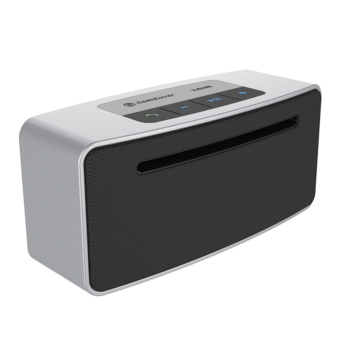 GeekRover Shockwaves Bluetooth Speaker (Silver)