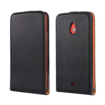 Genuine Leather Flip Cover Case for Nokia Lumia 1320 (Black) - intl