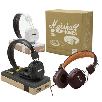 Genuine Major Headphones DJ Monitor Remote HiFi Headset Brown -Intl Price Philippines