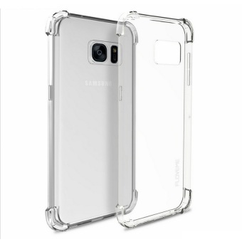 German Import Drop Resistant Silicone Clear Case for Samsung GalaxyNote 5 (Clear) with Free Tempered Glass (Clear)