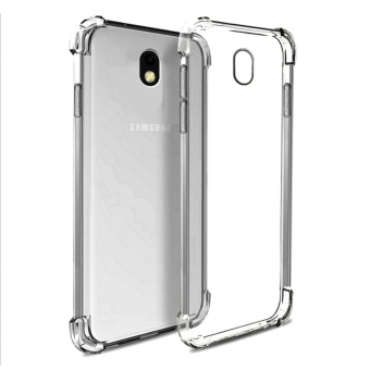 German Import Shockproof Silicone Clear Case For Samsung Galaxy J7Pro (Smoke Grey)