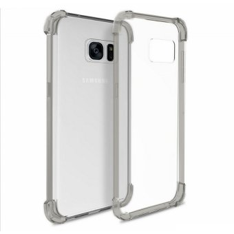 German Import Shockproof Silicone Clear Case for Samsung Galaxy S7Edge (Smoke Grey)
