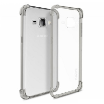 German Import Shockproof Silicone Clear Case for Samsung GalaxyJ120F (2016) (Smoke Grey)
