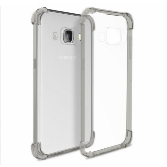 German Import Shockproof Silicone Clear Case for Samsung GalaxyJ710 (2016) (Smoke Grey)