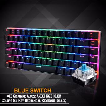Gigaware Ajazz AK33 #13 RGB 10.8M Colors 82 Key Mechanical Keyboard (Black) (Blue Switch)