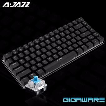 Gigaware Ajazz AK33 #2 82 Key Mechanical Keyboard (Black) (BlueSwitch)