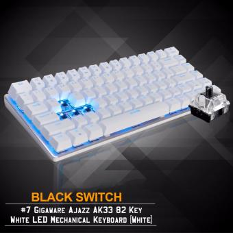 Gigaware Ajazz AK33 #7 82 Key Blue LED Mechanical Keyboard (White)(Black Switch)