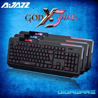 Gigaware Ajazz God of War X5 3LED Color Backlit Ergonomic Gaming Keyboard