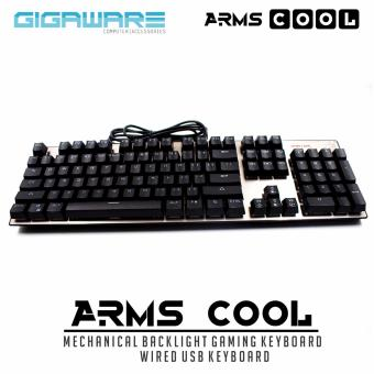 Gigaware Arms-Cool Mechanical Gaming Keyboard Wired USBKeyboard