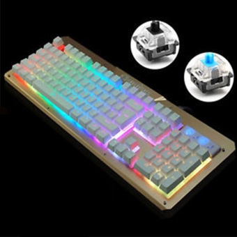 Gigaware Gaming K26 104 keys Blue Switch Mechanical Keyboard (Gold) Price Philippines