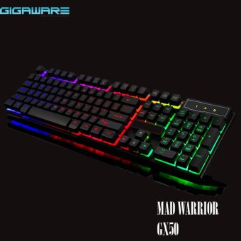 Gigaware GX50 Mad Warrior Suspended Keypress Gaming Keyboard (Black)