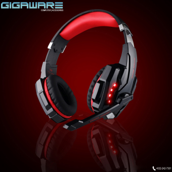 Gigaware Kotion G9000 Gaming LED Headset 3.5mm USB Port (Black/Red) Price Philippines