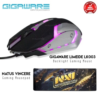 Gigaware Limeide LK003 Backlight Gaming Mouse + Natus Vincere Gaming Mousepad