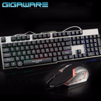 Gigaware LK006 Metal Backlight Gaming Keyboard and Mouse Combo (Black)
