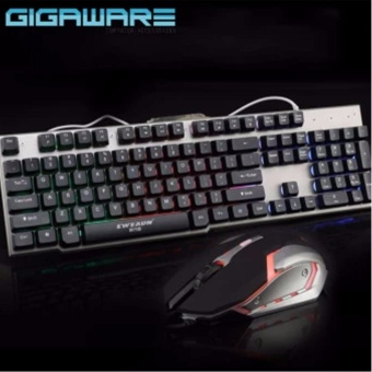 Gigaware LK006 Metal Backlight Gaming Keyboard and Mouse Combo(Black) Price Philippines