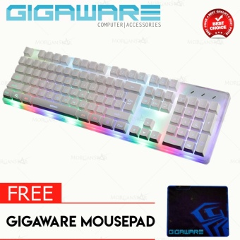 Gigaware Midio RX-8 Dazzle Mechanical Feel Gaming Keyboard withFREE Gigaware Mousepad