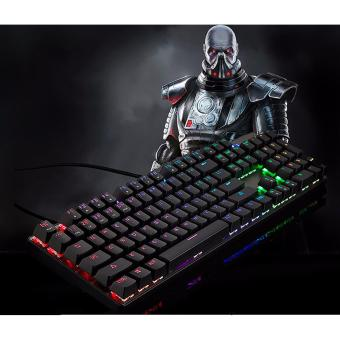 GIGAWARE Motospeed CK104 Full RGB Mechanical Keyboard (Outemu BlueSwitch) (Clicky & Tactile) (Black)