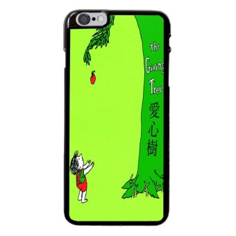 Giving Tree Pattern Phone Case For iPhone 6 Plus/6s Plus (Black)