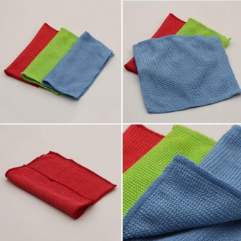 Glasses Lens Screen Fiber+Cotton Soft Cleaning Cleaner Wipe Cloth Random Color - intl