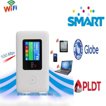 Globe Smart 4G LTE WiFi Router Dongle Hotspot 4G Car Mifi Modem Broadband Router - intl