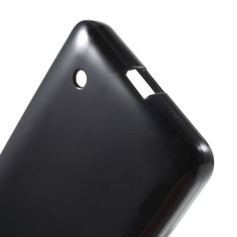 Glossy Outer Brushed Inner Jelly TPU Case for Microsoft Lumia 640Dual Sim / 640 LTE - Black