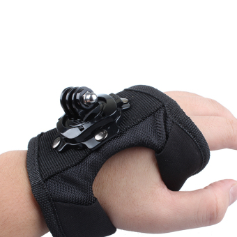 Go Pro Accessories 360 Degree Rotation Glove style Wrist Hand BandMount Strap For GoPro Hero 4 Hero 4 Session 3+ 3 2 Xiaoyi cam