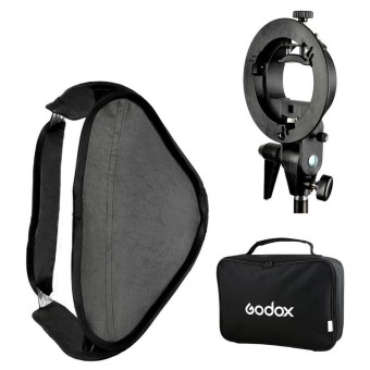 "Godox 80 * 80cm / 31"" * 31"" Flash Softbox Diffuser with S-typeBracket Bowens Holder for Speedlite Flash Light ^ - intl Price Philippines"