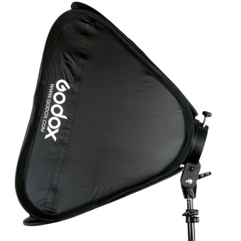 Godox S-Type Speedlite Bracket Mount Holder + 50 x 50cm Softbox forStudio Photography - Black - intl