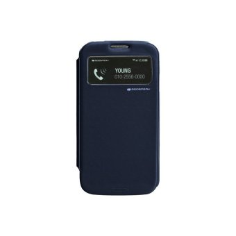Goospery Easy View Cover for Samsung Galaxy S4 (Navy)