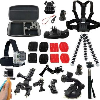 Gopro Accessories Case Monopod Tripod Float Bobber Chest head strap Go pro 4 Gopro Hero 5 4 3 2 - intl