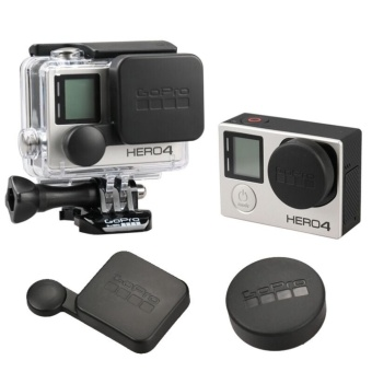 gopro hero 4 3+ lens cap cover Housing Case Cover hero4 housing -GoPro Accessories