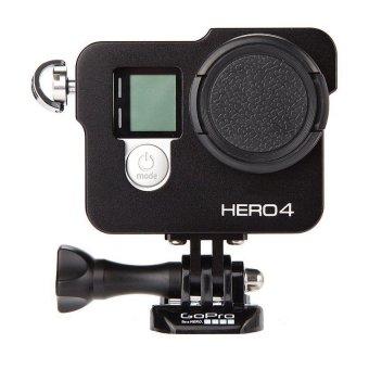 Gopro Hero 4 Aluminum Cage with 37mm UV Filter (Black)