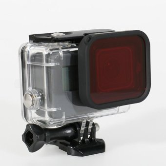 Gopro Hero 5 Accessories 45m Waterproof Housing Underwater DivingCase + Red Filter for Gopro Hero 5 Black - intl