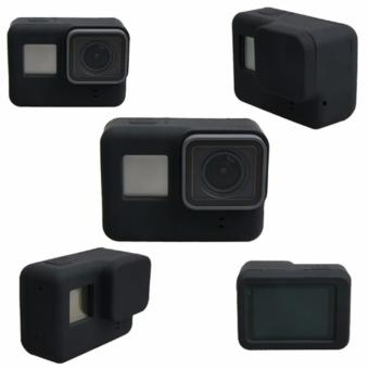 GoPro Hero 5 Action Camera Scratch-Resistant Silicone Case and LensProtector (Black)