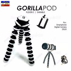 Gorilla Pod Large Octopus Flexible Tripod Stand For Camera And Smartphone Black FREE Mobile Phone Holder