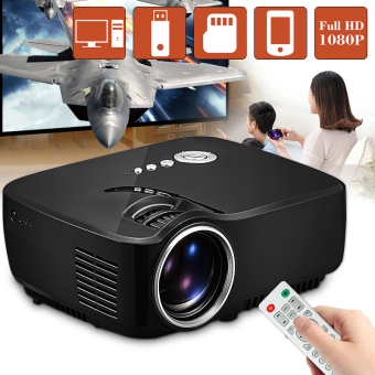 GP70 LCD Portable LED Projector 1080P Full HD 1200 Lumens HDMI USB FHD SD Home Theater Beamer - intl