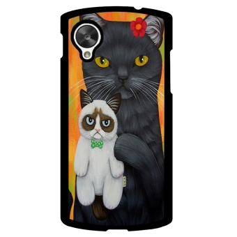 Grumpy Cat Pattern Phone Case for LG Nexus 5 (Black) - picture 2