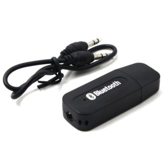 H-163 Wireless Bluetooth Music Receiver Dongle Adapter (Black)