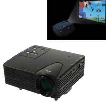 H100 LED Projector Support TV/AV/VGA/SD/USB/HDMI Interface with Remote Control