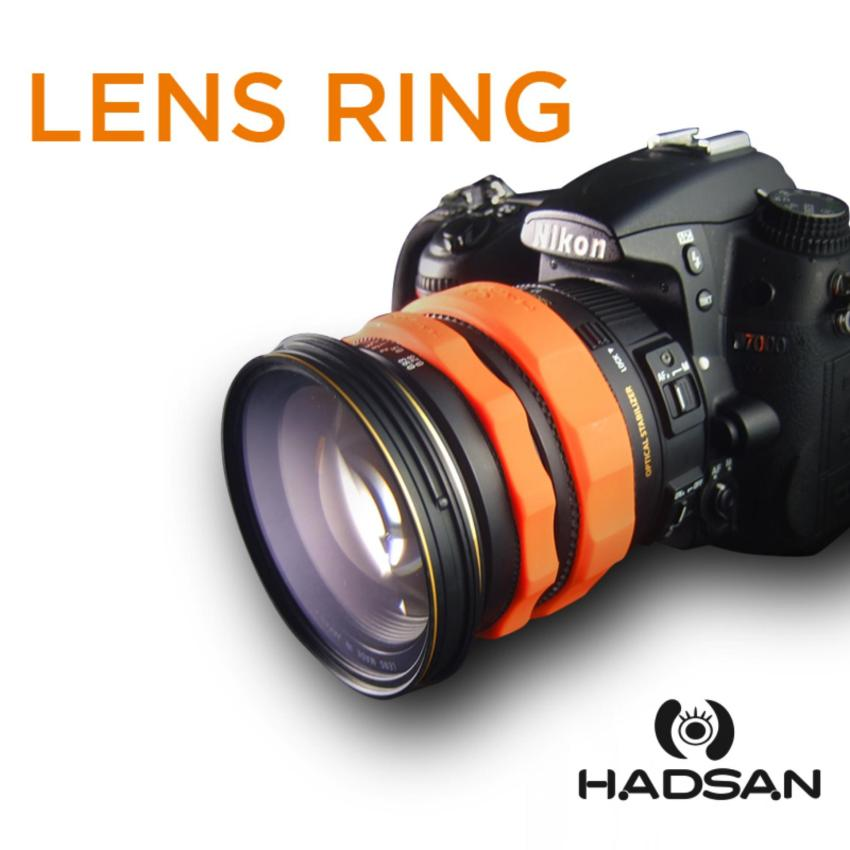 HADSAN Zoom and Focus Silicone Rubber Lens Ring (ORANGE) Price Philippines